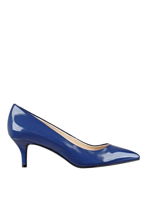 Nine West İnce Kısa Topuklu Stiletto Ayakkabı Lacivert